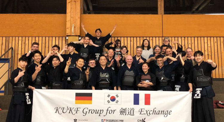 Besuch der koreanischen Kendo Delegation im Dojo Offenburg